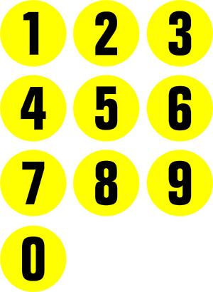 1-0 floor signs